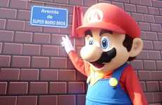Game Character Streets - Super Mario Bros Avenue is Unveiled in Zaragosa, Spain