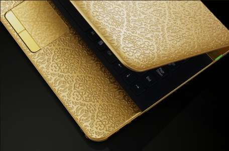 Gold-Etched Electronics - The Limited Edition Sony VAIO 'Arabesque' is Extravagant