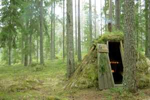 Kolarbyn's Grass Blanketed Huts Provide Primordial Accommodations