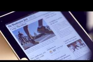 The Washington Post Newsroom Stars in Newspaper iPad App Commercial