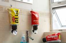 Discrete Toilet Paper Dispensers  - Squeeze Out Your Wipes with the Collapsible Tube TP Dispenser