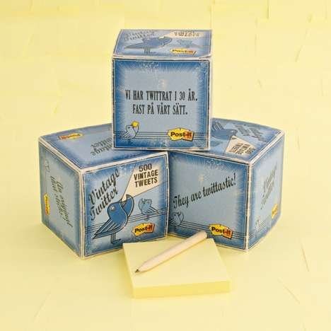 Social Media Stickies - Update Messages the Old School Way with Vintage Twitter Post-It Notes
