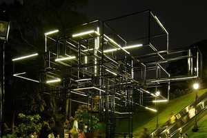 The Tree-Like Illuminated 'FARM' Singapore Light Installation