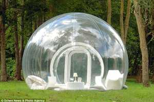The Transparent Bubble Tent by Pierre Stephane Dumas