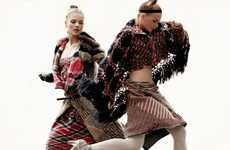 Patchwork Plaid Fashion - Two Bombshells in Elle Mexico November 2010 Make You Do a Double Take