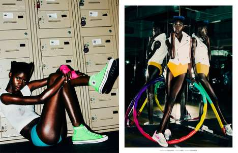 Vibrant Fitness Fashion - Reina Montero Shines in a Workout Fashion Shoot