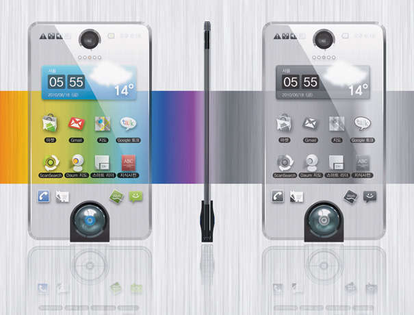 Power-Saving Transparent Phones