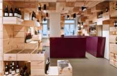 Shipping Crate Shop Interiors - This Wine Store by OOS Design is Fully Stocked With Spirits