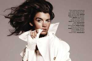 Sultry Windblown Manes from the Crystal Renn Harper's Bazaar Issue