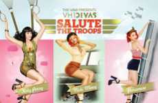 Pin-Up Celeb Posters - The Divas Salute the Troops Poster is Superstar Sexy