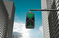 Hourglass Street Signage - Thanva Tivawong 'Sand Glass' Traffic Lights are Visual and Visceral