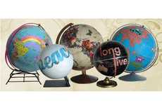 Graffitied World Globes