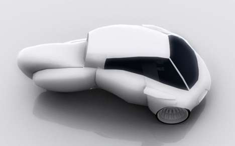Zinc-Powered Eco Cars - The Eos by Marco Aurelio Galan is a Lean City Three-Wheeler