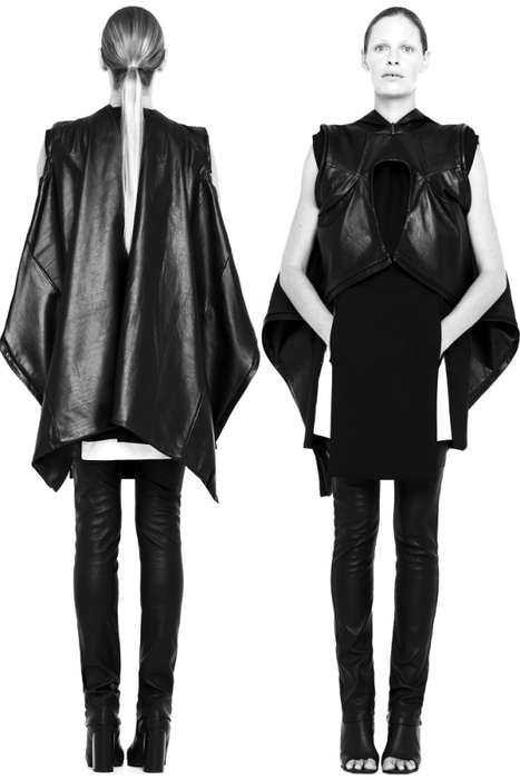 Doleful Doppelganger Lookbooks - Rad Hourani SS 2011 Collection Showcased in a Listless Shoot