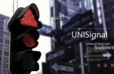 Colorblind Traffic Lights - The UNIsignal Incorporates Shapes into Stoplights for Accessibility