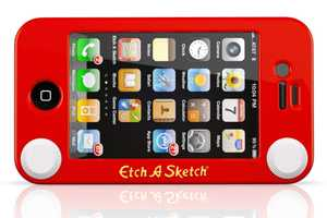 The Playful Headcase Etch-a-Sketch iPhone Protector