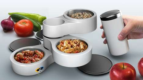 Solar-Powered Lunches - The Sunflower Lunchbox Carries Self-Heating Food