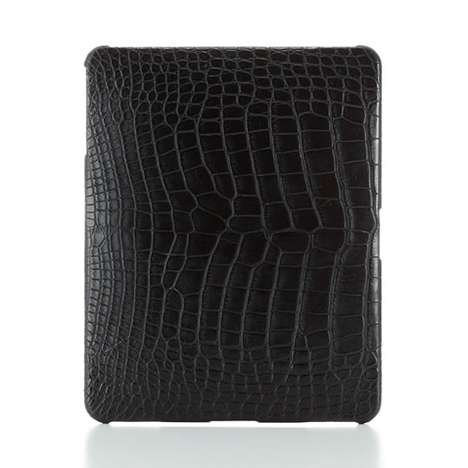Crocodile Leather iPad Case