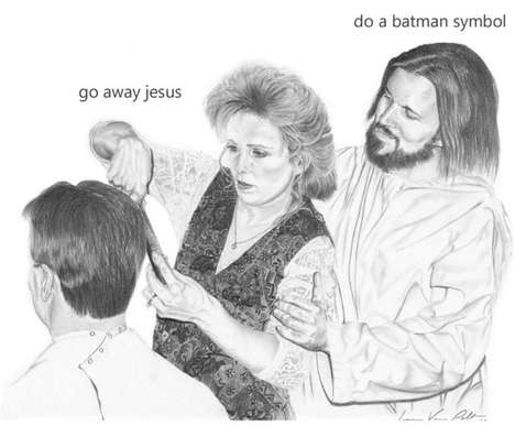 jesus is a jerk sketches