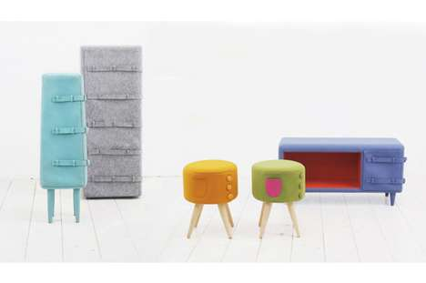 Felt-Robed Furnishings - The Fetching KAMKAM 'Dressed Up Furniture' Series