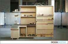 Cupboard-Bound Kitchens - The 'Keukenkabinet' by Johanneke Procee Unfolds to Make Food