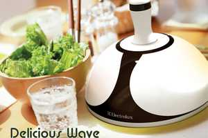 The 'Delicious Wave Microwave' Lights Up Your Dinner and Heats it Too