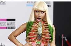 Golden Rib Cage Frocks - Nicki Minaj's Dress at the American Music Awards Surprised Many