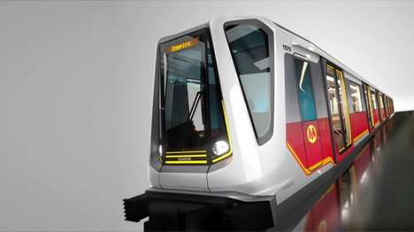 Automobile-Inspired Trains - Warsaw Unveils Their New BMW Subway Cars