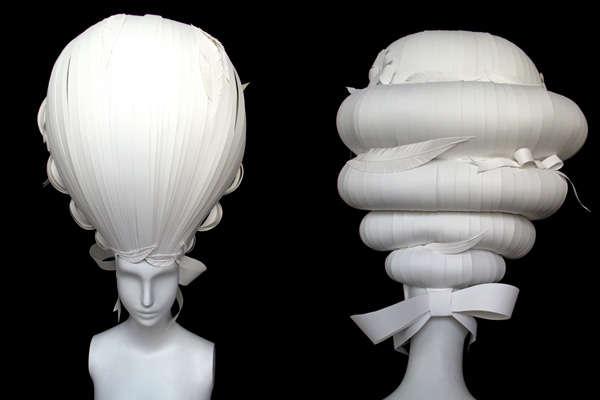 Marie Antoinette Paper Wigs