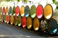 Rainbow-Colored Storm Pipes