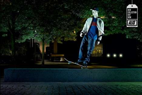 Sick Skating Statues - The Alis Skate Gear Campaign Shows Athletic Mannequins