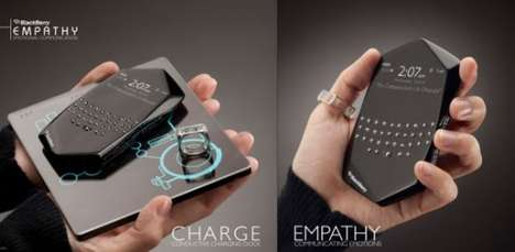 Emotionally-Charged Phones - The Blackberry Empathy Conveys Feelings Using a Biometric Ring