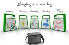 Scribbling Food Containers - The Thomas Vu Lunch Box is Fun and Practical