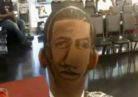 Celebrity Face Hairstyles - This Salon Customer Gets Clipped with a Drake's Face Haircut
