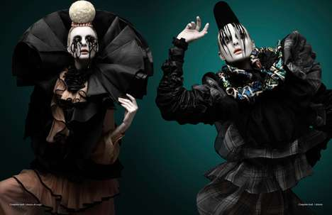 Victorian Clown Photography - The Paco Peregrin 'Spectacular' Editorial is Dark and Dramatic
