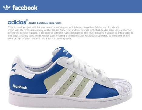 Social Media Shoes - The Adidas Facebook & Twitter Shoes Bring New Meaning to Follow Friday
