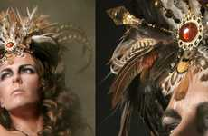 Regal Tribal Headdresses - The 'Queens Headpieces' Shoot Portrays an Extravagant Collection
