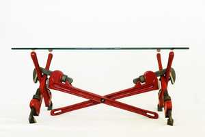 The Pipe Wrench Coffee Table is for the Hardy Handyman