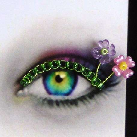 Beaded Eyelash Jewelry - Spirys Creates Funky Bead and Wire Glamour for Your Peepers
