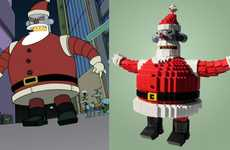 Evil Santa Toys - The LEGO Robot Santa Looks it's Straight Out of 'Futurama'
