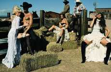 Hot 'n' Wild West Spreads - This Terry Richardson Vogue Paris January 2011 Shoot is Full of Fl