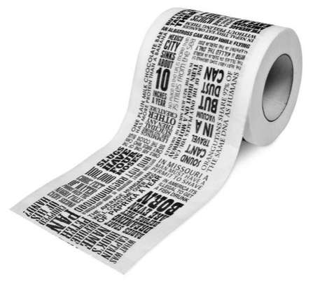 Toilet Newspaper - Educational Toilet Experiences With the 'Things We Didn't Know Loo Roll'