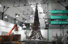 Chocolate Christmas Trees - The 30-Foot Edible Tanenbaum for Charity by Patrick Roger
