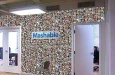 Social Media Wallpaper - Mashable is Redecorating Their Office with a Real-Life Facebook Wall