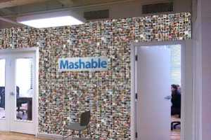 Mashable is Redecorating Their Office with a Real-Life Facebook Wall