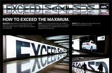 Reflective Auto Ads - This BMW Advertisement by 'Serviceplan' Doubles the Attention