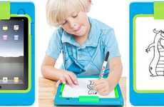 Coloring Book Tablets - The Griffin LightBoard Lets Kids Trace Pictures Displayed on the iPad