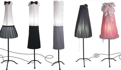 Dapperly Dressed Lighting - Angelika Morlein Makes Lamps Inspired by Grand Hotel Frequenters