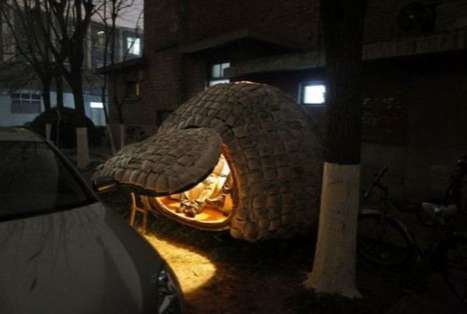 Egg Shaped Eco Abodes - Daihai Fei Builds a Sustainable Mobile Home in Beijing