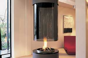 The Modus Design Suspended Fireplaces Beam Down a Blaze